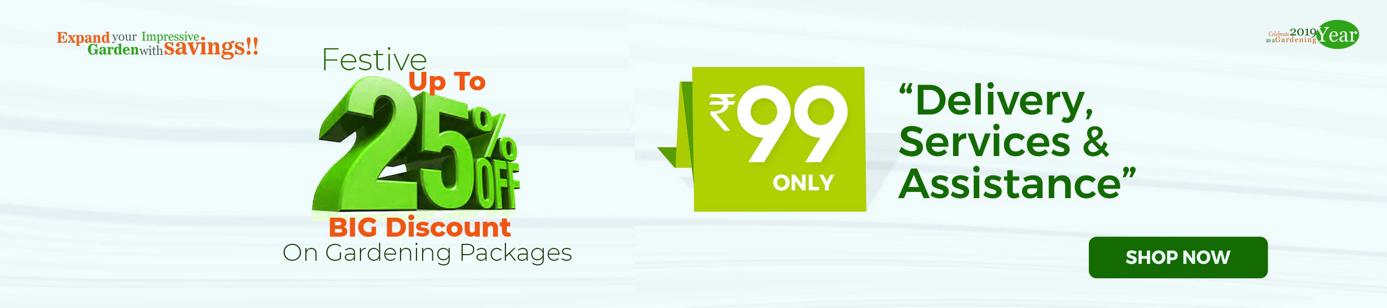 MDG Festive upto25% Discount on Garden packages